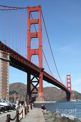 The Golden Gate Bridge At Fort Point - 5d21468 Poster by Wingsdomain Art and Photography