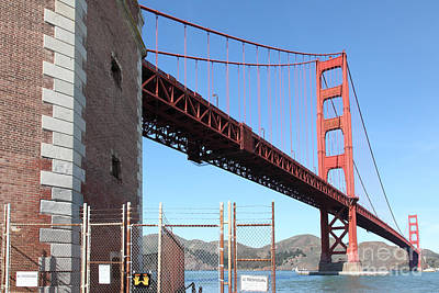 The Golden Gate Bridge At Fort Point - 5d21479 Poster by Wingsdomain Art and Photography