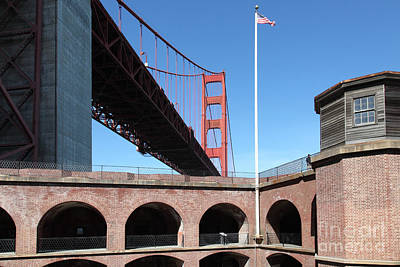 The Golden Gate Bridge At Fort Point 5d21567 Poster by Wingsdomain Art and Photography