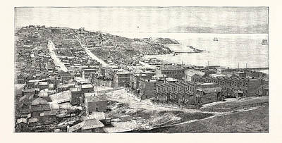 The Golden Gate San Francisco Engraving 1876 Poster by English School