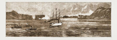 The Golden Gate, San Francisco H.m.s. Comus Leaving Poster by Litz Collection