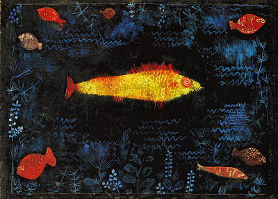 Poster featuring the painting The Goldfish by Paul Klee