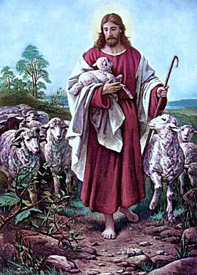 The Good Shepherd 1878 Bernhard Plockhorst Poster