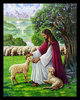 The Good Shepherd Poster by John Lautermilch