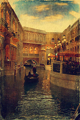 The Grand Canal Shoppes Poster by Maria Angelica Maira