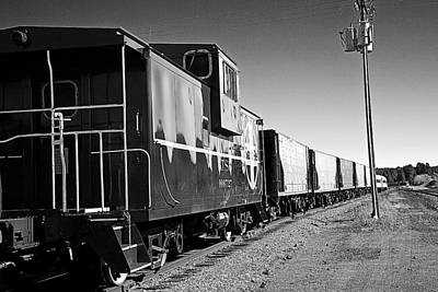 Poster featuring the photograph The Grand Canyon Express 2 Black And White by James Sage