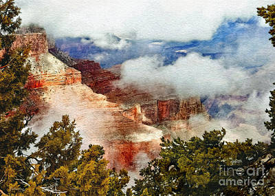 The Grand Canyon National Park Poster by Bob and Nadine Johnston