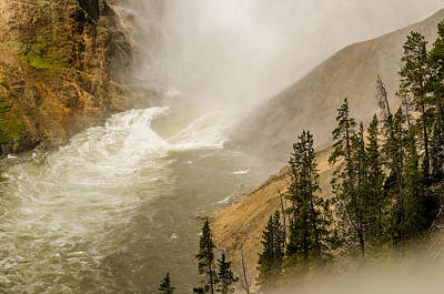 Poster featuring the photograph The Grand Canyon Of Yellowstone by Yeates Photography