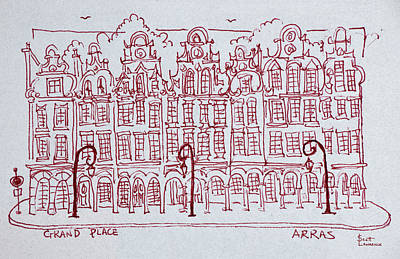 The Grand Place Town Square, Artois Poster
