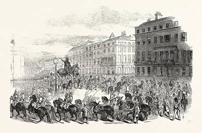 The Grand Procession Of The Wellington Statue Poster