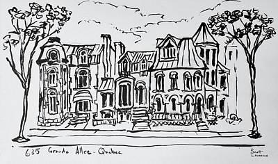 The Grande Allee, Quebec City, Quebec Poster