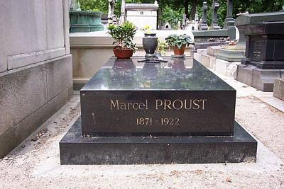 The Grave Of Marcel Proust In Paris France Poster