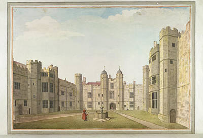 The Great Court At Cowdray Poster by British Library