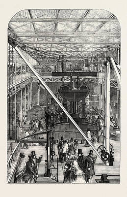 The Great Exhibition Machinery Court Poster