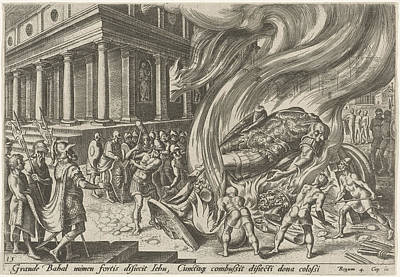 The Great Idol Of Baal Fired And Destroyed With Hammers Poster