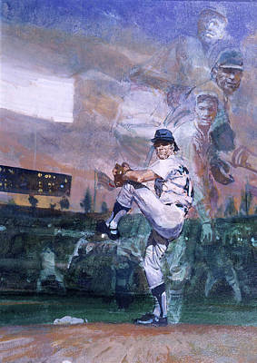 The Great Pitchers Best Hurlers Face Poster by Stanley Meltzoff / Silverfish Press