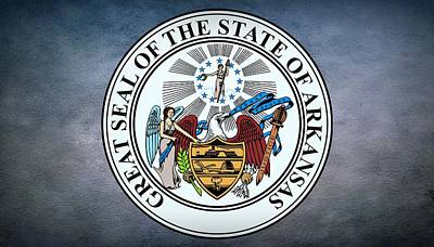 The Great Seal Of The State Of Arkansas Poster by Movie Poster Prints