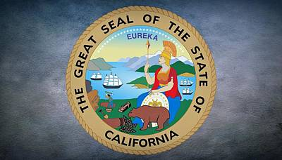 The Great Seal Of The State Of California Poster