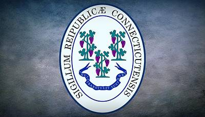 The Great Seal Of The State Of Connecticut Poster