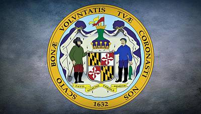 The Great Seal Of The State Of Maryland  Poster