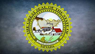 The Great Seal Of The State Of Nevada Poster by Movie Poster Prints