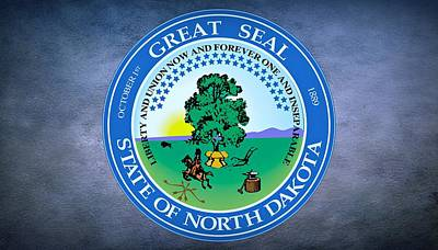 The Great Seal Of The State Of North Dakota Poster by Movie Poster Prints