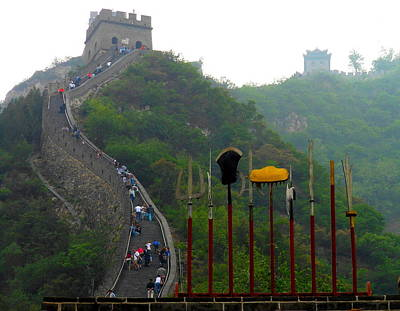 Poster featuring the photograph The Great Wall by Kay Gilley