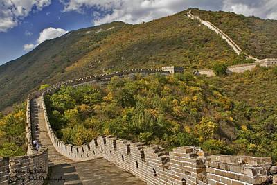 The Great Wall Of China At Mutianyu 2 Poster