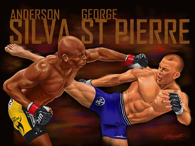 The Greatest Fight That Never Was Poster by Robert Villazante