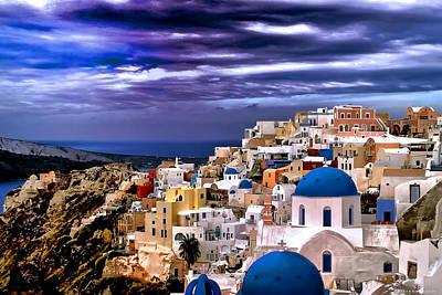 The Greek Isles Santorini Poster