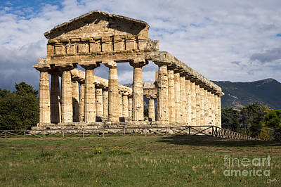 The Greek Temple Of Athena Poster by Prints of Italy