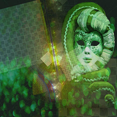Poster featuring the digital art The Green Lady by Melissa Messick