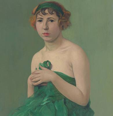 The Green Ribbon Poster by Felix Edouard Vallotton