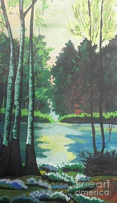 The Greenish Nature World Poster by Artist Nandika  Dutt