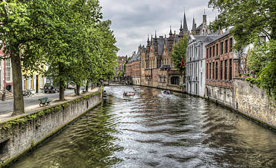 The Groenerei Canal In Bruges Belgium Poster