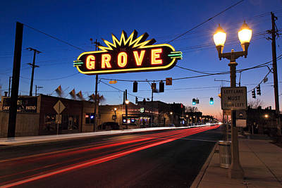 The Grove In Twilight Poster
