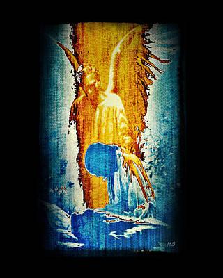 The Guardian Angel Poster by Absinthe Art By Michelle LeAnn Scott