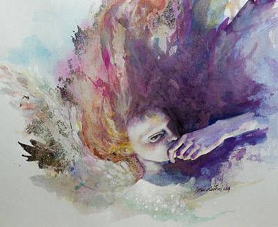 The Guardian Angel Poster by Dorina  Costras
