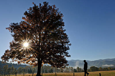 The Guiding Light In Cades Cove Poster by Tyson and Kathy Smith