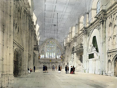 The Guildhall, Interior, From London As Poster by Thomas Shotter Boys