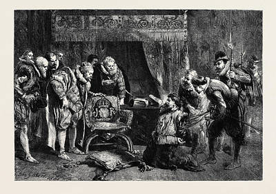The Gunpowder Plot Guy Fawkes Being Interrogated By James Poster by Gilbert, Sir John (1817-97), English