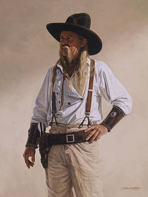 Poster featuring the painting The Gunslinger by Ron Crabb