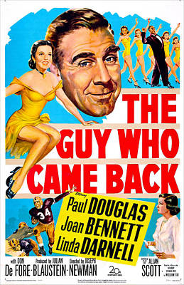 The Guy Who Came Back, Us Poster, Paul Poster by Everett