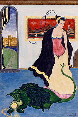 The Gypsy And The Dragon Painting Poster by Sally Rockefeller