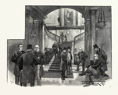 The Hall Of The Athenaeum Club, Pall Mall Poster by English School
