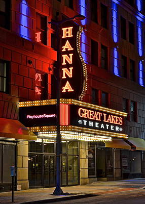 The Hanna Theater In Playhouse Square Poster by Frozen in Time Fine Art Photography