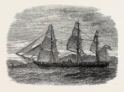 The Hartford Admiral Farraguts Flag-ship Poster by American School