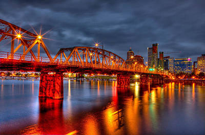 Poster featuring the photograph The Hawthorne Bridge - Pdx by Thom Zehrfeld