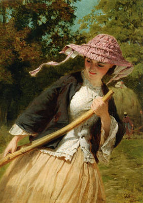 The Haymaker Poster by George Elgar Hicks