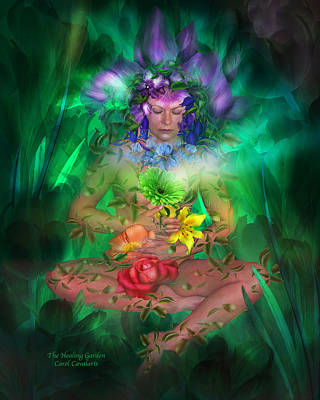 The Healing Garden Poster by Carol Cavalaris